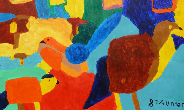 Birds by Stephen Staunton, who became an artist after sustaining a traumatic brain injury.