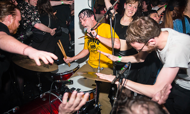The Black Lips at a Fluffer Records pit part. Photograph: Carla Salvatore