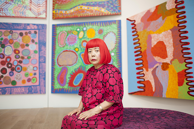 Portrait of artist Yayoi Kusama