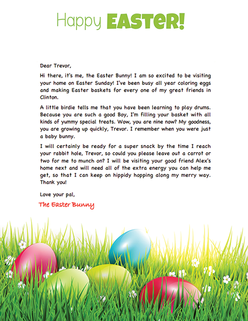 Letter from easter bunny template newsinvitation free easter bunny letter spiritdancerdesigns Images