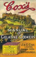 "Cox's ""Manual of Gelatine Cookery"" from the 1930′s"""