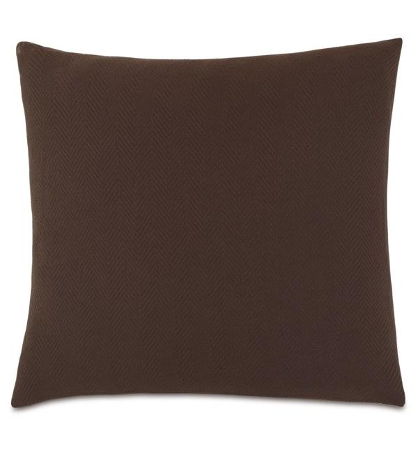 Luxury Bedding Eastern Accents - Bozeman Brown Euro Sham