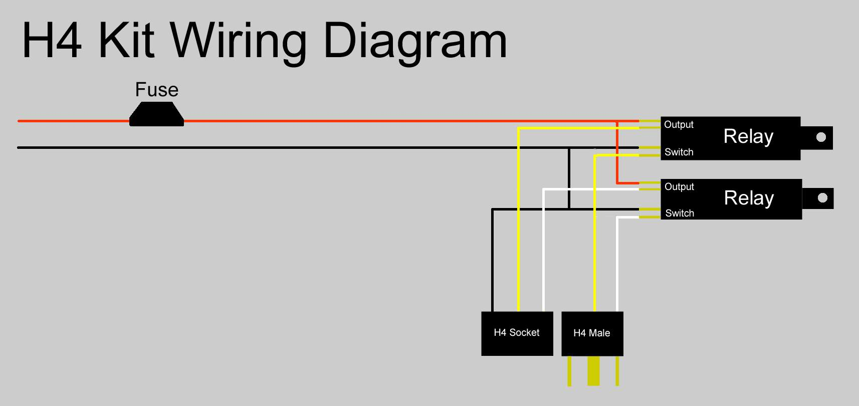 h4 halogen bulb wiring diagram mercruiser 7 4 sealed beam to conversion free engine