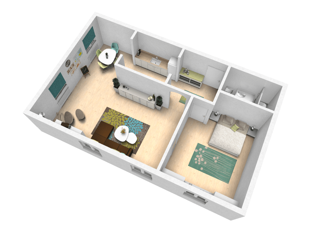 Try out your ideas in our sample apartment  pCon blog