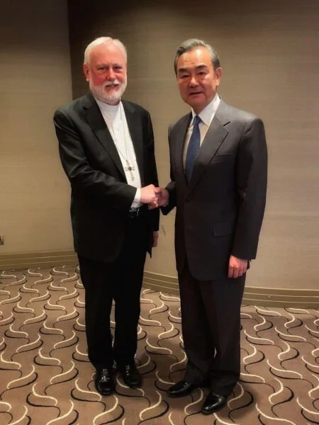 China Vatican historic meeting between foreign ministers