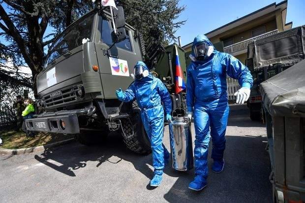 Putin's propaganda with aid in Bergamo