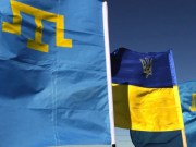 Crimean Tatar flags in Turkey
