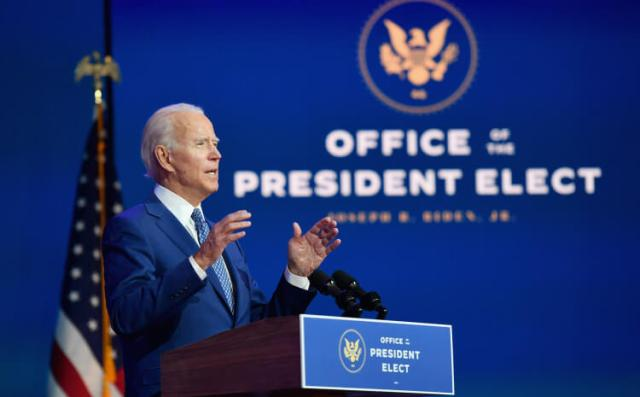 Biden: He will take over the function of the President of the United States on January 20