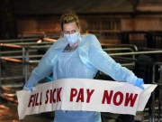 London protest: Health workers demand salary increase