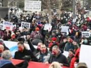 Protest in Belgrade Serbia