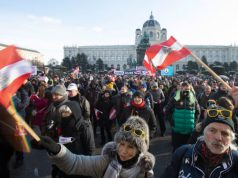 Protests in Vienna Austria