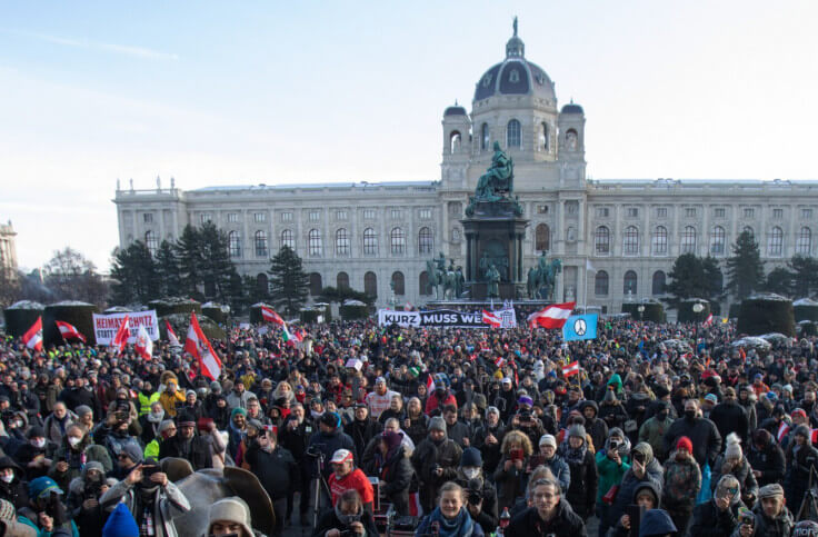 Protests in Vienna: Only grocery stores are open