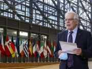 "The head of European diplomacy called Russia a ""dangerous neighbor"""