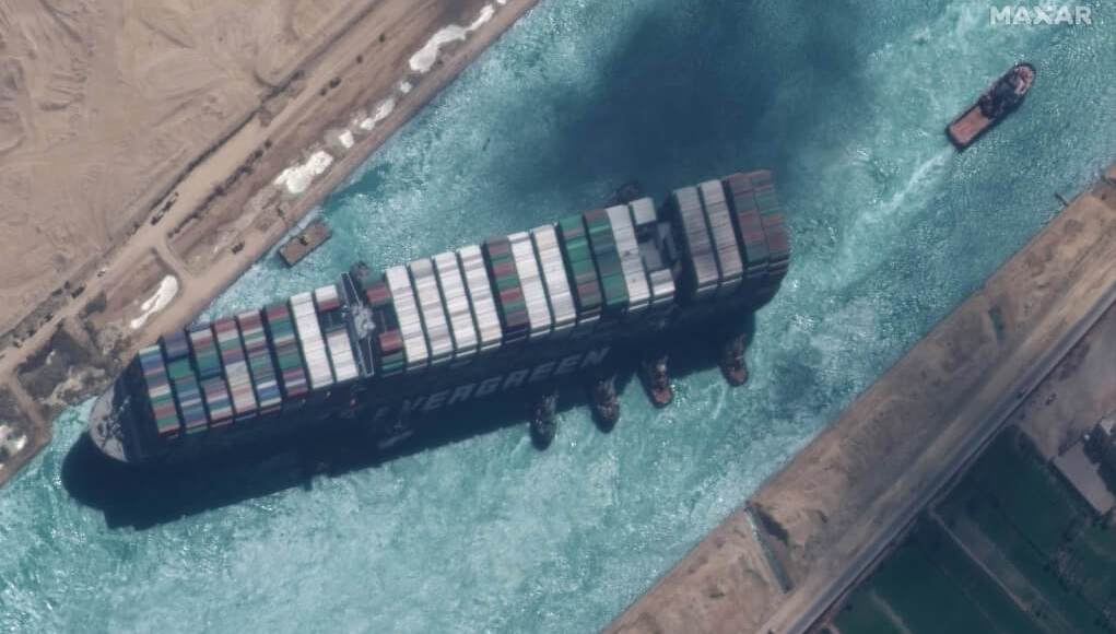The ship that was stranded in the Suez Canal was released