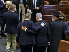 """ISRAEL-POLITICS-KNESSET-A """"historic day"""" .. Israel is about to bid farewell to """"King Bibi"""""""
