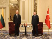 Erdogan meets his Lithuanian and Latvian counterparts in Brussels ahead of the NATO summit