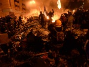Putin accused Washington of organizing a coup in Ukraine in 2014-Clashes in Kyiv, Ukraine. Events of February 18, 2014.