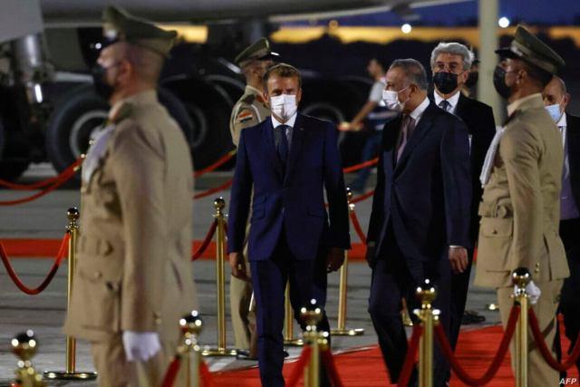 IRAQ-FRANCE-POLITICS-DIPLOMACY-BAGHDAD-SUMMIT-MUSTAFA-AL-KADHIMI-ARAB-WORLD