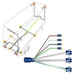 Trailer Wire Diagram 7 One Alternator Semi Harness Systems And Bulk At Parts Superstore