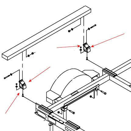 TRITON Aluminum Adjustable Bunk Mounting Bracket #7378-SS