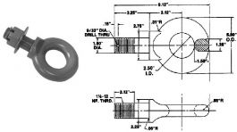 7.5-Ton Forged Steel Lunette Ring w/Nut #BDB12503