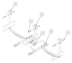 RELIABLE Double Eye Tandem Axle Hanger Kit, #EK2-D103