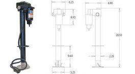 3.5k 12V RV Electric Tongue Jack w/ 7 Pole Wiring #0093500