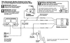 Typical Vehicle Trailer Brake Control Wiring Diagram