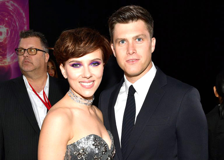 Scarlett Johansson and Colin Jost make red carpet debut