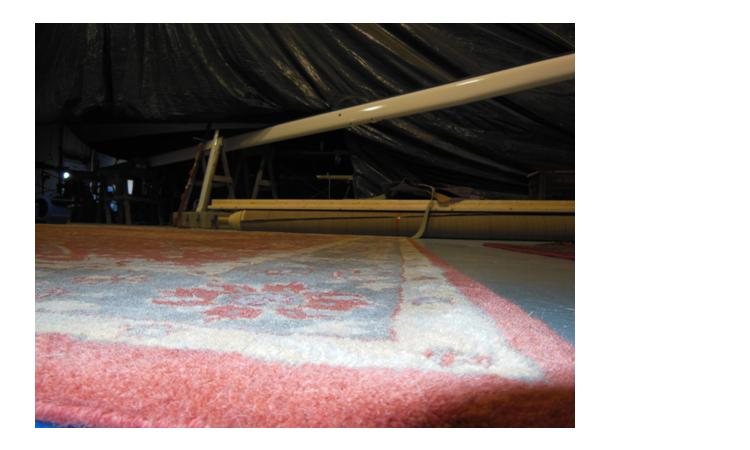 Drying a rug flat