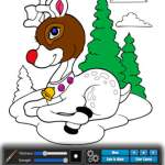 screen shot of Christmas: coloring book