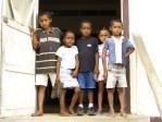 Kids At Clinic Door