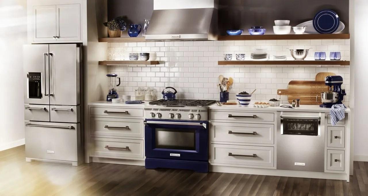 kitchenaid kitchen black cabinets brighten your with appliances bad axe mi