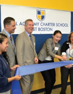 Eastie   elected officials join excel academy charter school staff in officially cutting the ribbon to new facility on moore street also cuts east boston times free press rh eastietimes