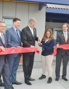 Gov bakerexcel academy cut ribbon on new high school  east boston times free press also rh eastietimes