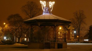 Eastleigh bandstand in the Snow