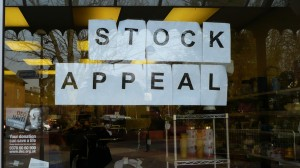 Help the Aged shop stock appeal