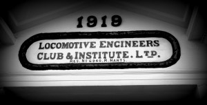 Rail workers have been meeting here for almost 100 years. Eastleighs oldest survivng Working Men's Club.