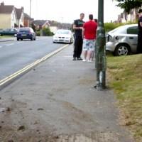 Spectacular car crash on Derby Road