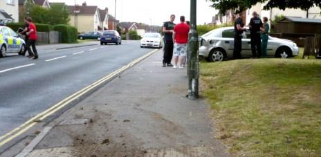 Car crash Derby Road Easlteigh 21 June