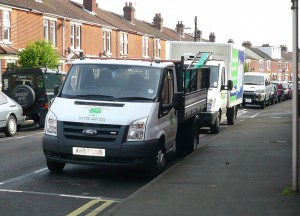 Vans in The Crescent were targeted