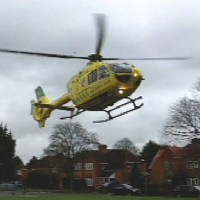 Air Ambulance lands in Boyatt Wood