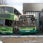Xela Buses damaged by Fire