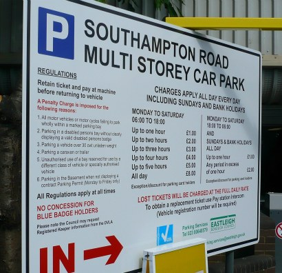 new parking charges Mitchell Road Car park