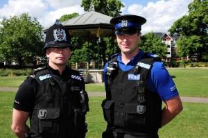 Police Sgt Chris Spellerberg (L) and PCSO Mike Alder
