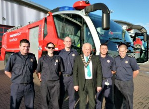 Mayor with Southampton Airport Fire Crew