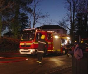 Fire crew arrive on scene
