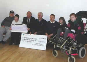 Botley park Golf Club present cheque to St Francis School