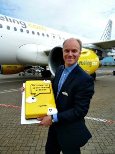 Vueling arrives at Southampton airport