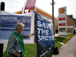Greenpeace protester